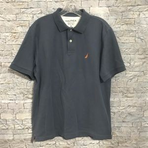 NAUTICA Mens Medium Grayish Golf Polo Shirt